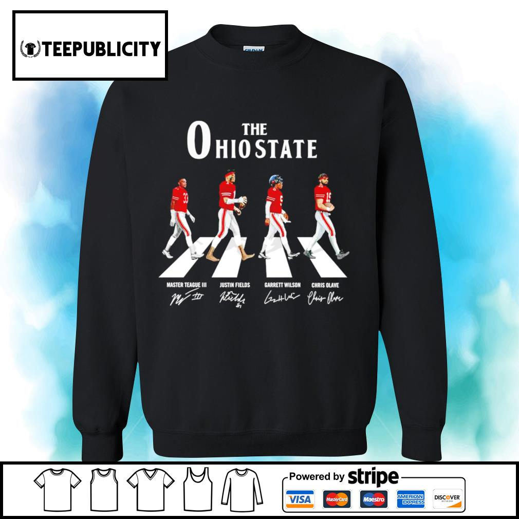 The Ohio State Buckeyes Abbey Road signatures s sweater