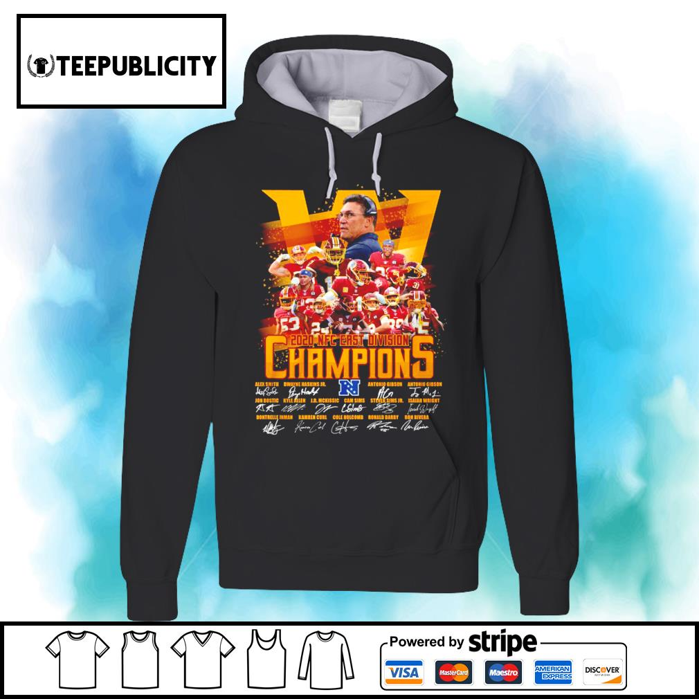 The Washington Redskins 2020 NFC East Division Champions signatures s hoodie