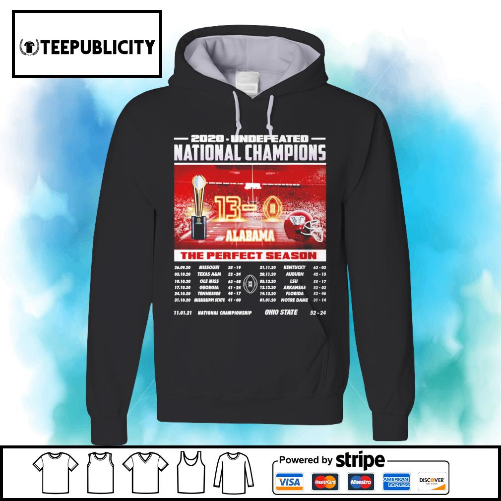 Undefeated season 2020 11 01 21 National Championship Ohio State 52 24 Back s hoodie