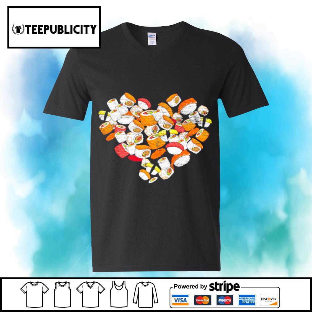 Anime Nigiri Sashimi heart love sushi Valentine's Day s youth-tee