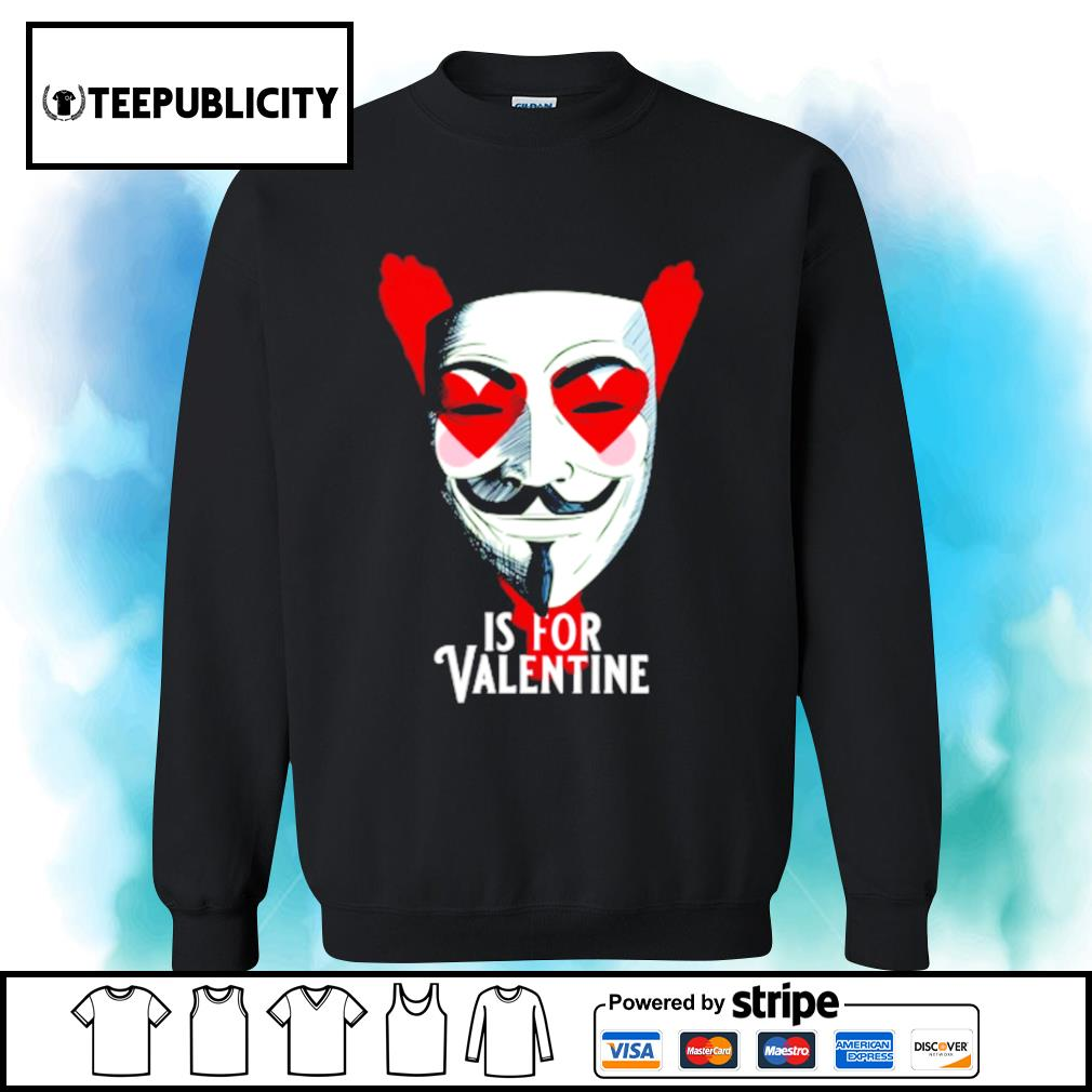 Anonymous mask is for Valentine s sweater