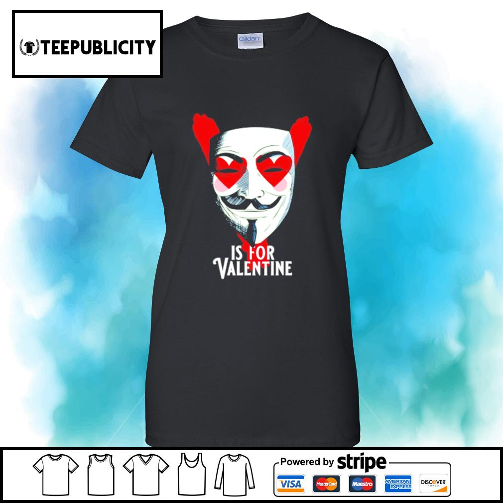 Anonymous mask is for Valentine s v-neck-t-shirt