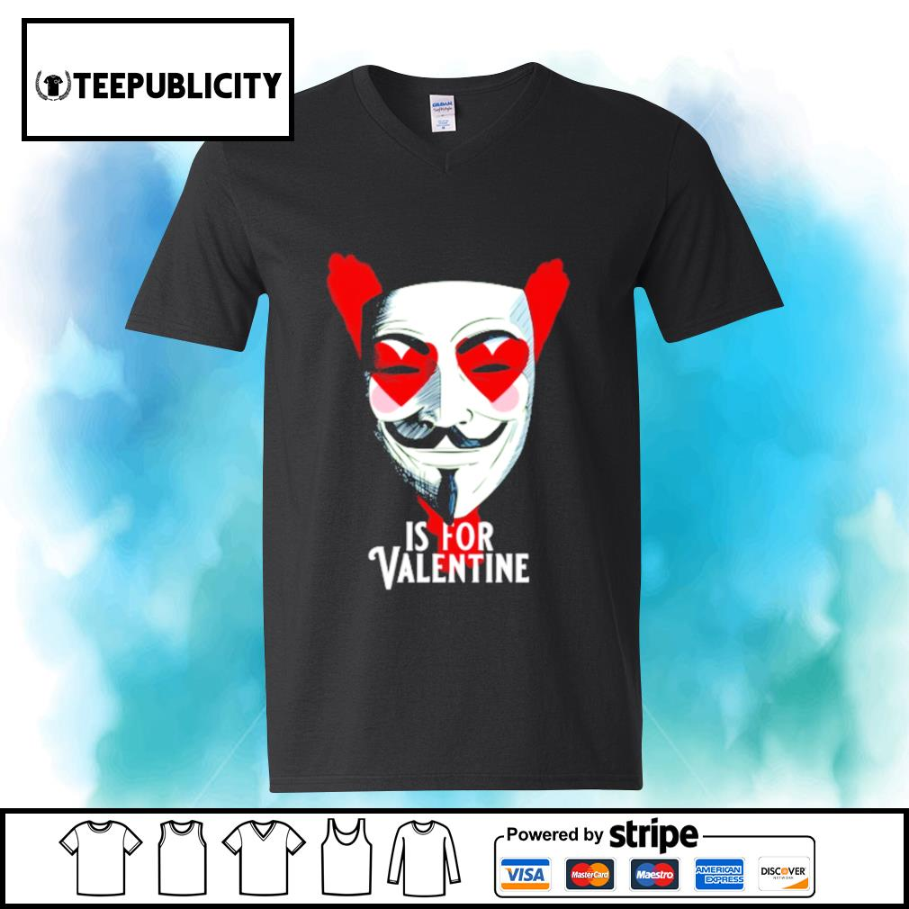 Anonymous mask is for Valentine s youth-tee